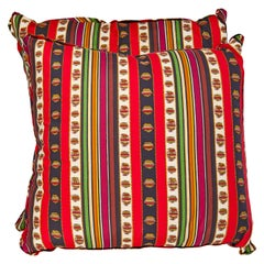 Pair of Madeleine Castaing Fabric Cushions