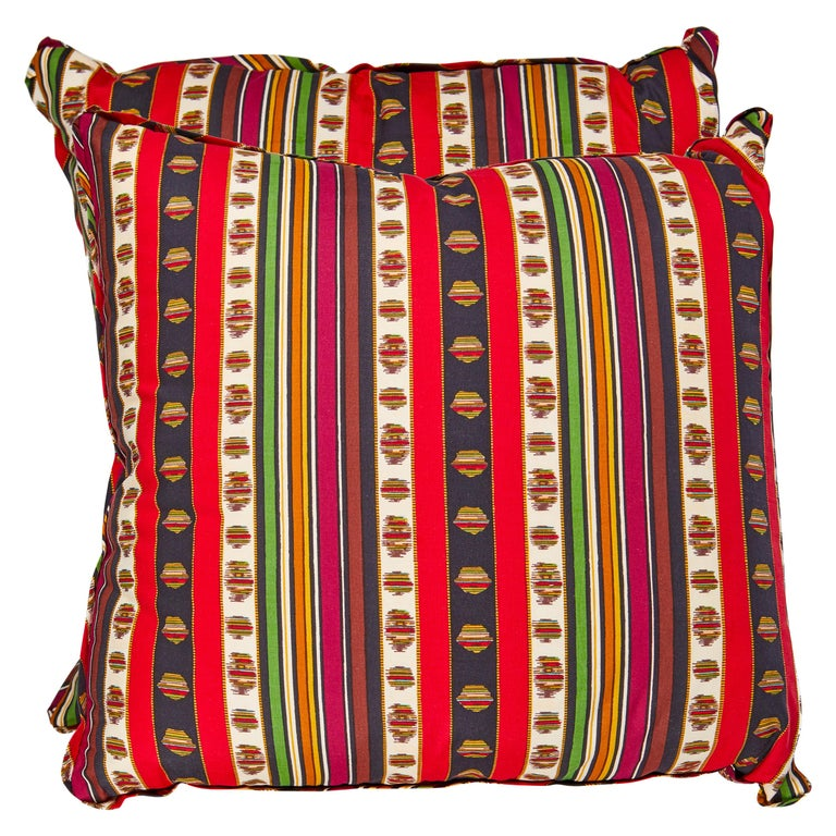 Pair of Madeleine Castaing Fabric Cushions For Sale