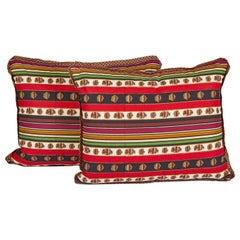 Pair of Madeleine Castaing Lumbar Cushions