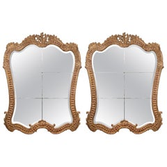 Pair of Magnificent Italian Giltwood Mirrors