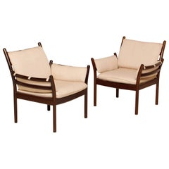 Pair of Mahogany Armchairs by Illum Wikkelsø