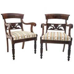 Pair of Mahogany Armchairs from circa 1890, after Renovation