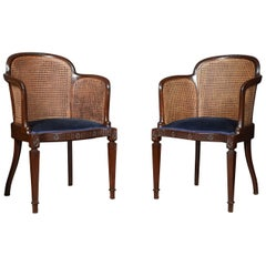 Pair of Mahogany Bergere Armchairs