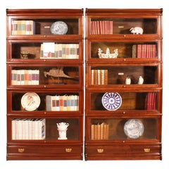 Pair of Mahogany Bookcase Said Stacking Bookcase from England with Drawers