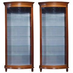 Pair of Mahogany Bow Fronted Display Cabinets