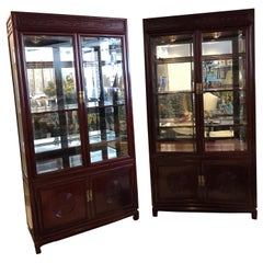 Pair of American Mahogany Cabinets in the Chinese style by John Widdicomb