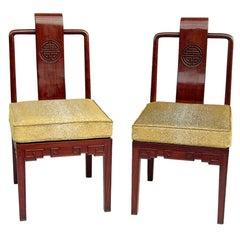 Pair of mahogany Chinese style chairs, circa 1900