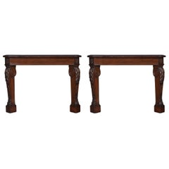 Pair of Mahogany Console Tables