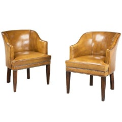 Pair of Mahogany Desk Chairs