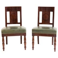 Pair of Mahogany Dining Room Chairs, Paris, circa 1810