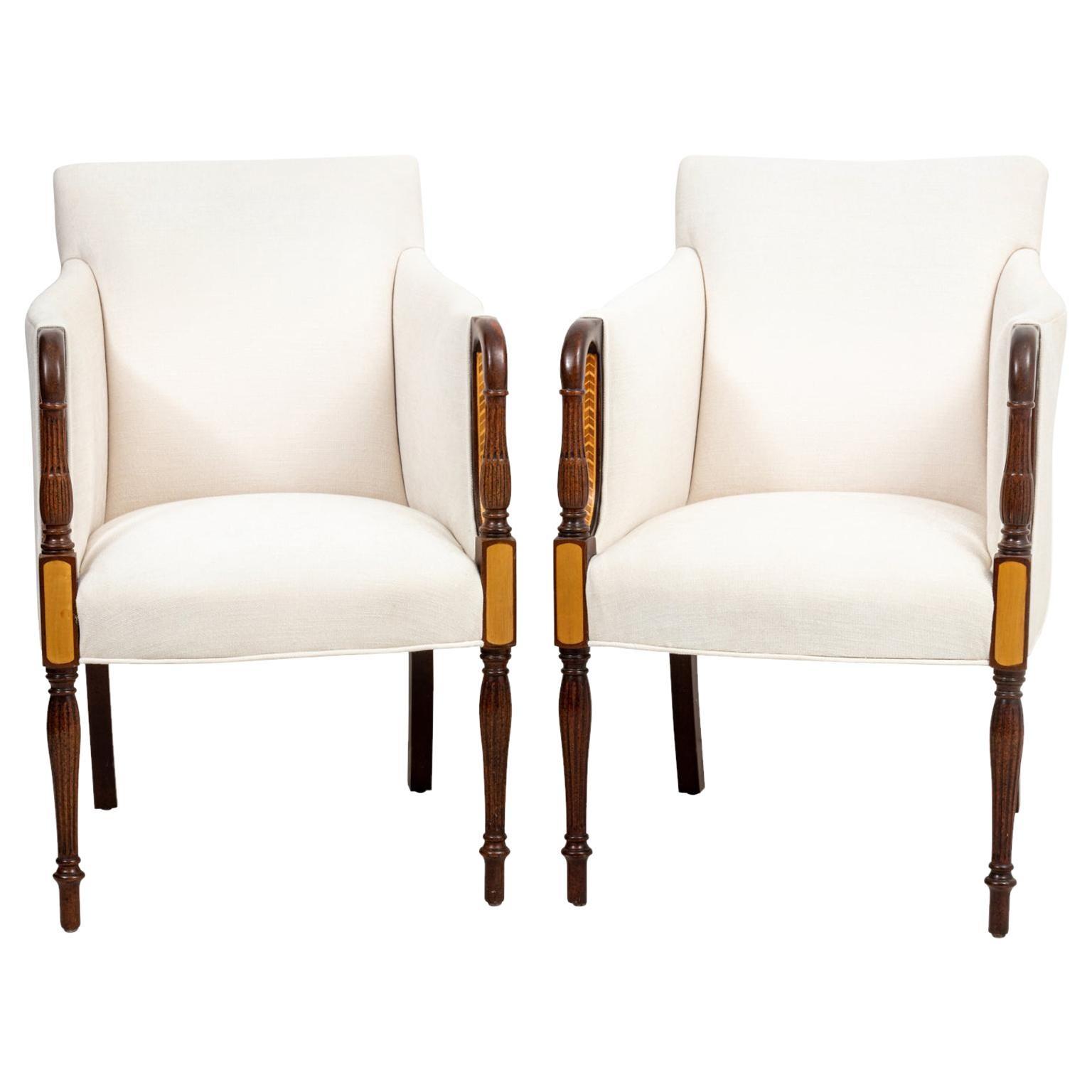 Pair of Mahogany Framed Armchairs