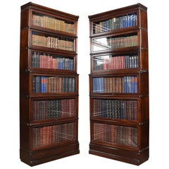 Pair of Mahogany Globe Wernicke Six Section Bookcases