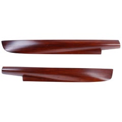 Pair of Mahogany Half Hull Models