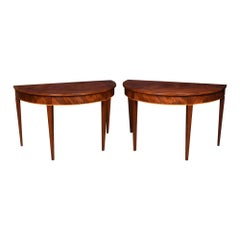Pair of Mahogany Half Round Hall Tables