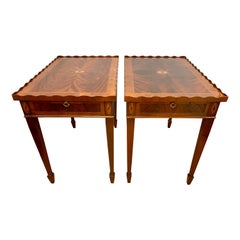 Pair of Mahogany Inlay End Tables Side Tables