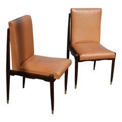 Pair of Mahogany Italian Side Chairs