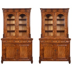 Pair of Mahogany Library Bookcases