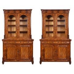 Pair of Mahogany Library Bookcases