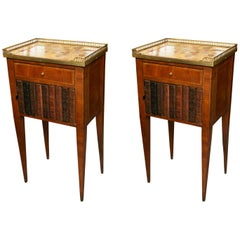 Pair of Mahogany Louis XVI Style Side Tables