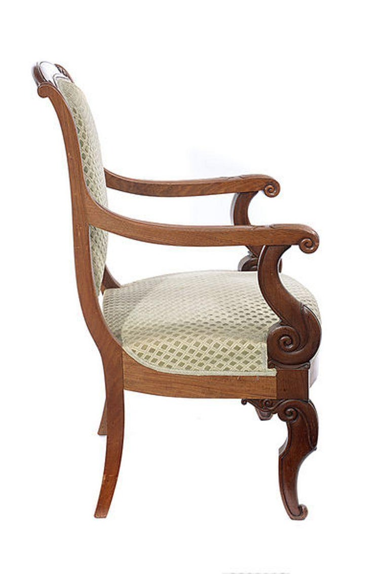 Pair of Mahogany Open Armchairs, circa 1830 For Sale 5