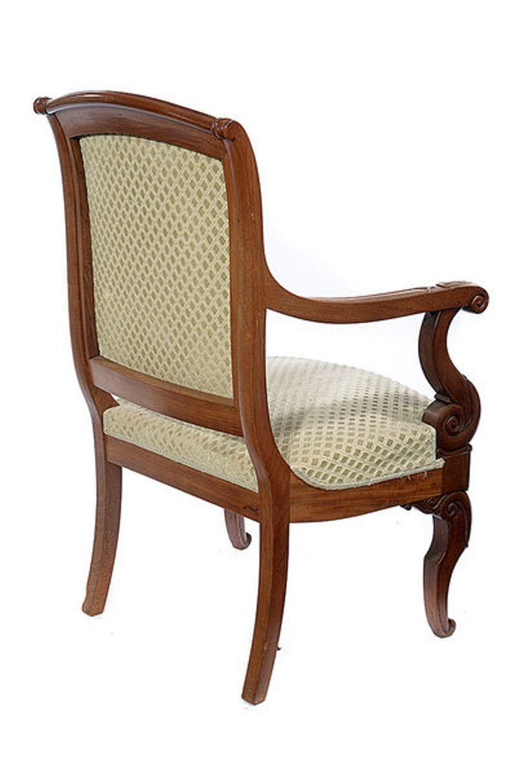 Pair of Mahogany Open Armchairs, circa 1830 For Sale 6
