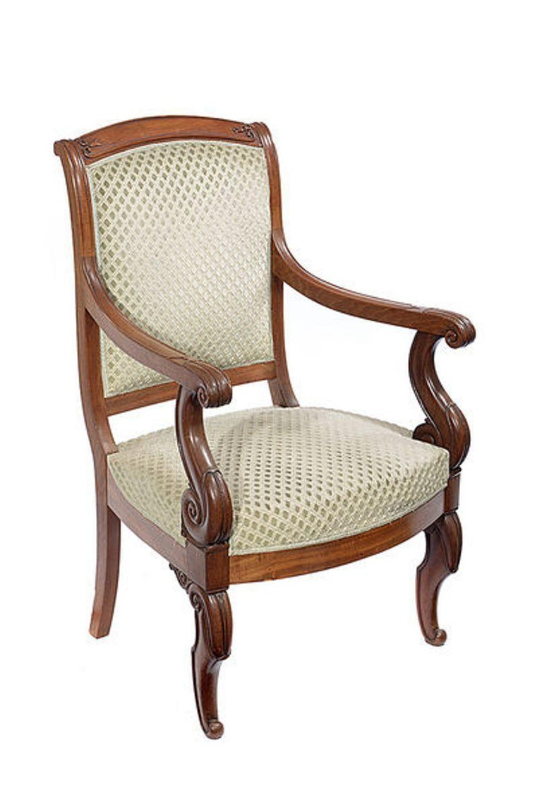 Pair of Mahogany Open Armchairs, circa 1830 For Sale 3