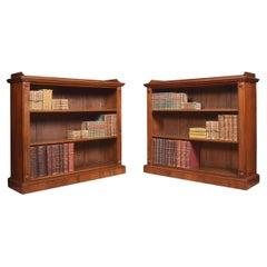Pair of Mahogany Open Bookcases