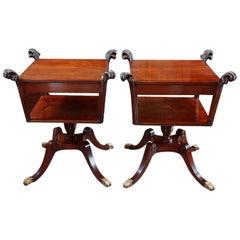 Pair of Mahogany Sofa End Tables