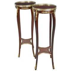 Pair of Mahogany Stands with Ormolu Mounts, France, circa 1940