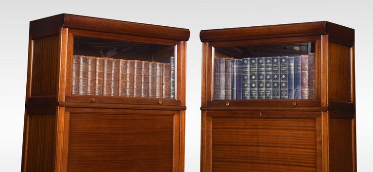 Pair of Mahogany Three Sectional Bookcases In Good Condition For Sale In Cheshire, GB