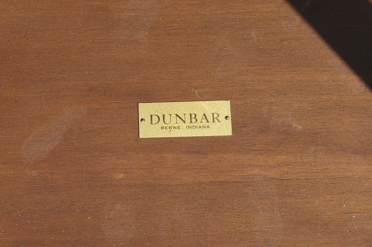 Pair of Mahogany, Walnut, and Brass Side Tables by Edward Wormley for Dunbar In Good Condition For Sale In Boston, MA
