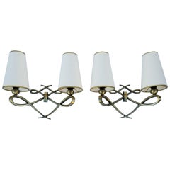 Pair of Maison Arlus Sconces, 2 Pairs Available