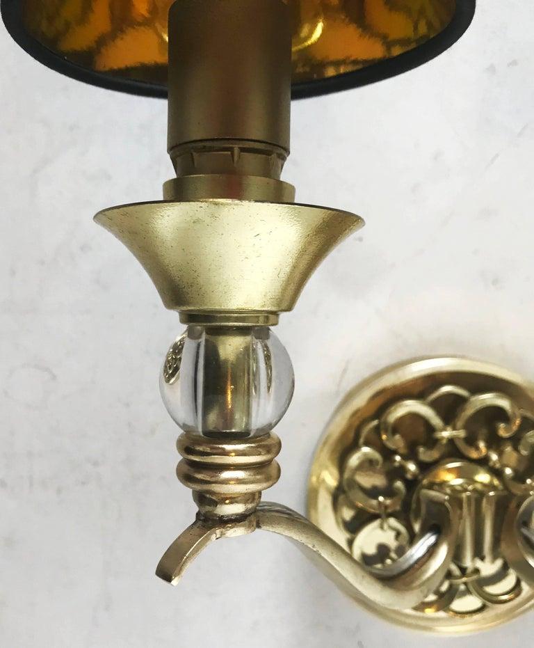 Mid-Century Modern Pair of Maison Arlus Sconces For Sale