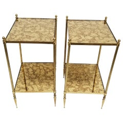 Pair of Maison Baguès French Neoclassical Side Tables