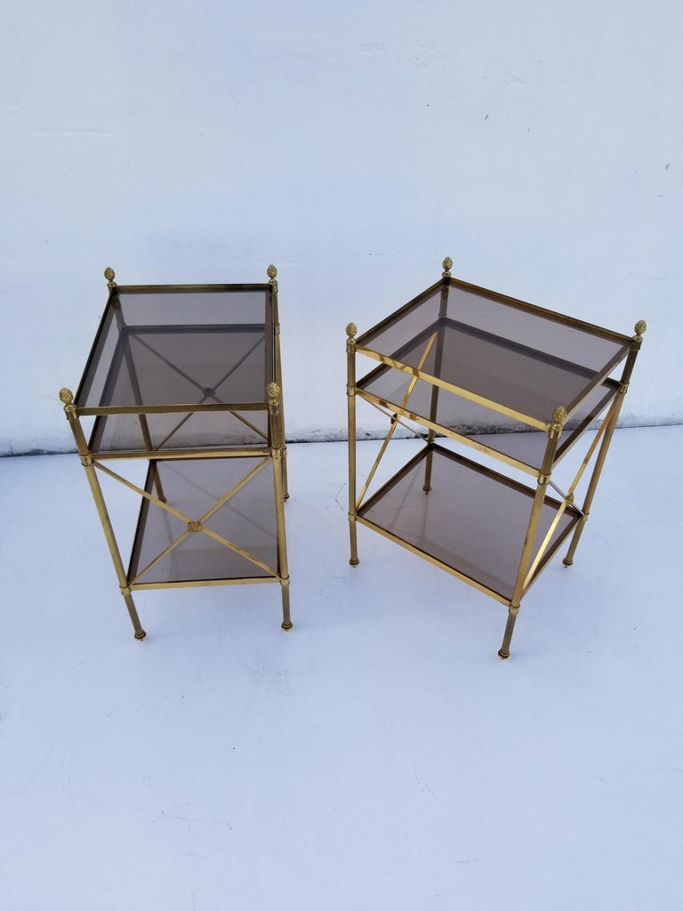 Pair of Maison Baguès Side Tables For Sale 1