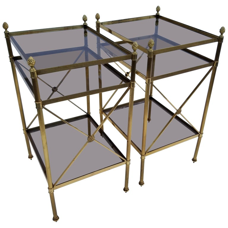 Pair of Maison Baguès Side Tables For Sale