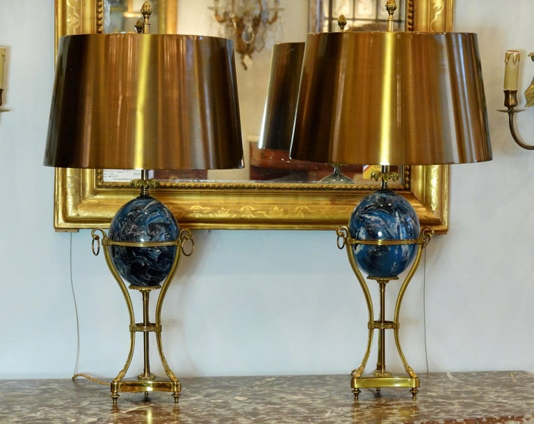 Pair of Maison Charles Neoclassical tripod (or