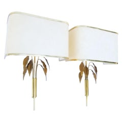 "Pair of Maison Charles Style ""Feuilles"" Sconces"