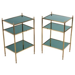 Pair of Maison Jansen Brass Side Tables