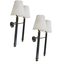 Pair of Maison Jansen Two Arms Sconces, 4 Pairs Available