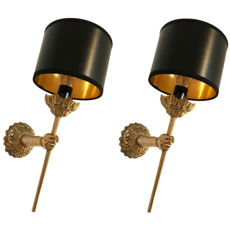 Pair of Maison Lancel sconces, 1960, offered by Thomas Brillet Inc