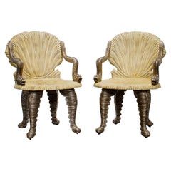 Pair of Maitland Smith Grotto Chairs, 1990s