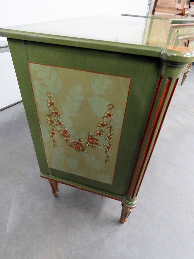 Pair of Maitland Smith Louis XVI Style Commodes In Good Condition In Swedesboro, NJ