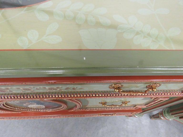 Pair of Maitland Smith Louis XVI Style Commodes 2
