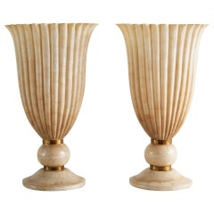 Pair of Maitland Smith Torchiere Lamps