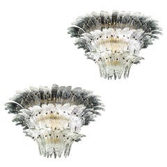 Pair of Majestic Murano Palmette Chandelier, 1970s