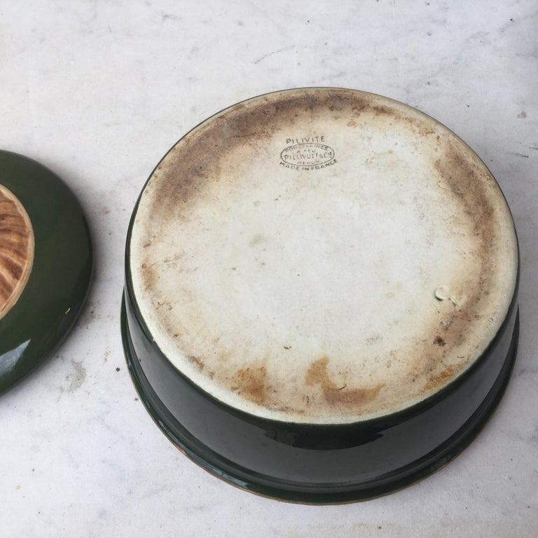 Ceramic Pair of Majolica Mushoom Tureen Pillivuyt, circa 1920 For Sale