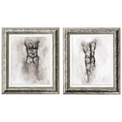 Pair of Male Nude Drawings by Ed Eller
