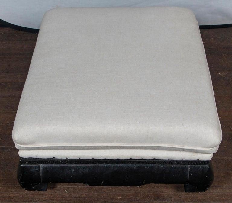 Pair of Mandarin/Asian Upholstered Ottomans For Sale 1