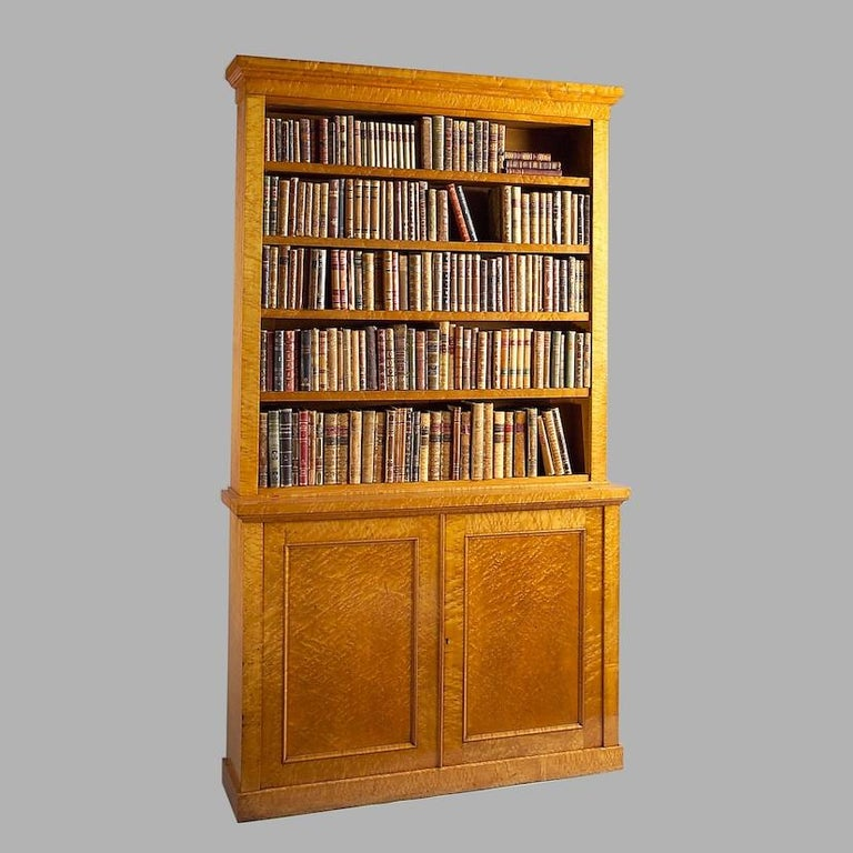 William IV Pair of Maple Bookcases For Sale